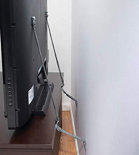 Safety 1st TV & Furniture Safety Straps, Black, Multi, 2 Straps