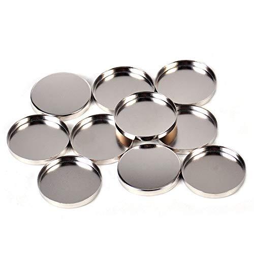 YusellYu 10 x Runde Tin Pan Palette 26mm Leere Lidschatten-Palette reagiert auf Magnete