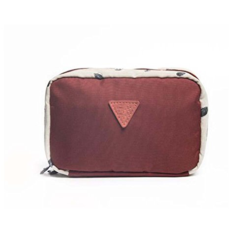 Sac cosmétique brun de sac de voyage de sac de sac de femmes