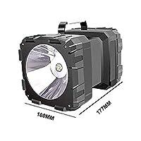 60W LEDの防水充電式二重ヘッドサーチライトハンドヘルド懐中電灯ワークライト超明るいスポットライト+フラッドリグ アウトドアハイキングキャンプ用 (Emitting Color : L2 and 35LED)