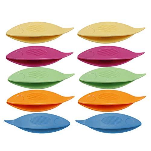 SUPVOX Occhi Schiffchen Kunststoff für Hand Spitze Herstellung Kunst Werkzeug 10 Stück (Mischfarbe)