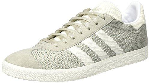 adidas Gazelle Primeknit, Zapatillas para Hombre, Verde (Sesame/Off White/Trace Green), 40 EU