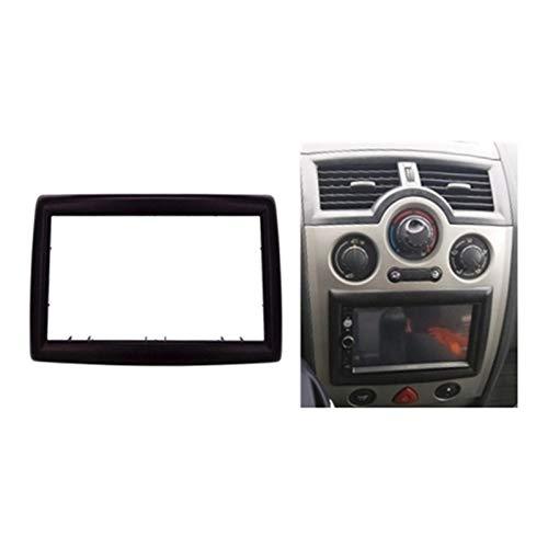 CCHAO Adaptador de 2 Din Cd Trim Panel Stereo Interface Radio Marco Panel Fascia para Renault Megane Ii 2003-2009 (Nombre del color: Negro)