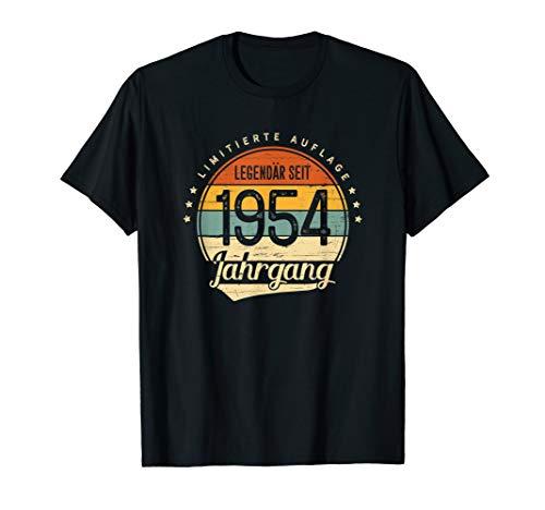 66 Geburtstag Mann Frau Geschenk Legendär Seit 1954 Jahrgang T-Shirt