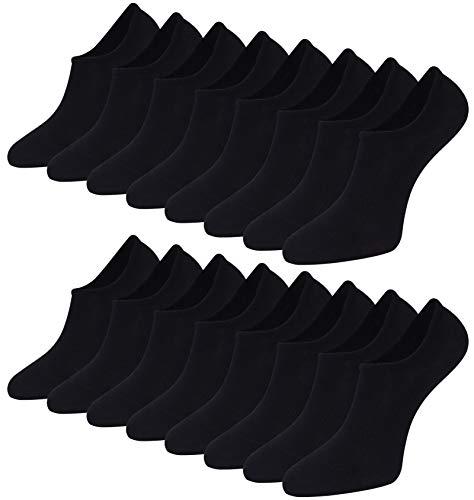 Toes Home Bambus Sneaker Socken Damen Herren - 8 Paar Füßlinge Füßlinge Unsichtbare Kurze Ballerina Socken Atmungsaktive Footies mit Silikonpad Anti Rutsch