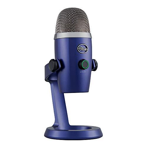 Blue Yeti Nano Micrófono USB de condensador profesional con múltiples patrones de captación y monitoreo sin latencia para grabación y transmisión en PC y Mac, Azul