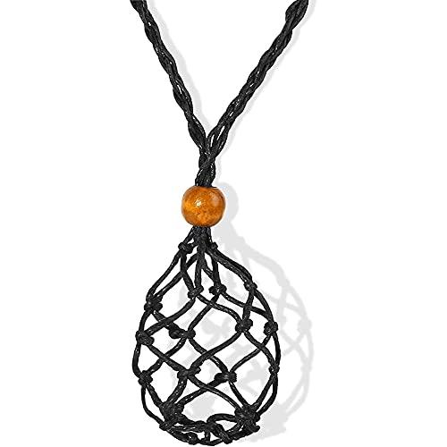 Didad CordóN de Collar Sostenedor de Piedra VacíO, CordóN de Collar para Cristales, Sostenedor de Piedra Colgante Sostenedor de Collar Ajustable Colgante