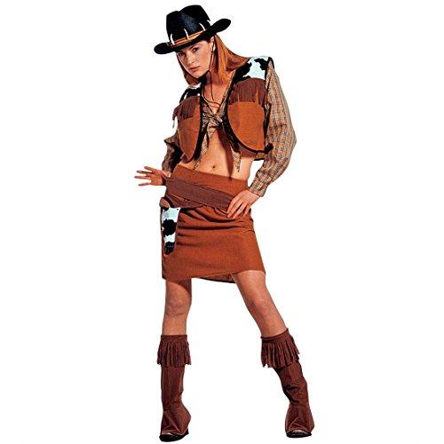Disfraz de Carnaval Disfraz de vaquero para mujer vaquera Cow Girl Western disfraz L 42/44