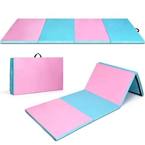 """Giantex Gymnastics Mat, 4' x10' x 2"""" Thick Tumbling Mat, Folding Exercise Mats for Indoor..."""