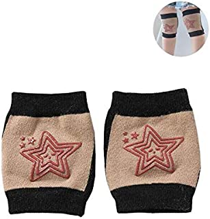 KhakiUnisex Baby Toddlers Kneepads FOONEE Cotton Baby Crawling Knee Elbow Pads Suitable For Baby From 6 To 30 Months,Soft, Sweat-Absorbent, Breathable,