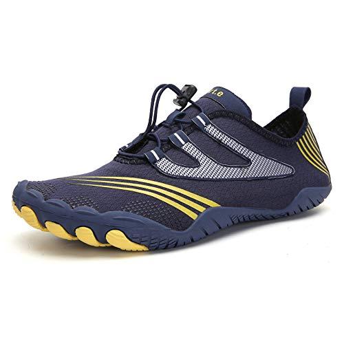 Qimaoo Barefoot Zapatillas de Trail Running Hombre Secado Rápido Respirable Antideslizante Zapatos de Agua para Vela, Surf, Buceo