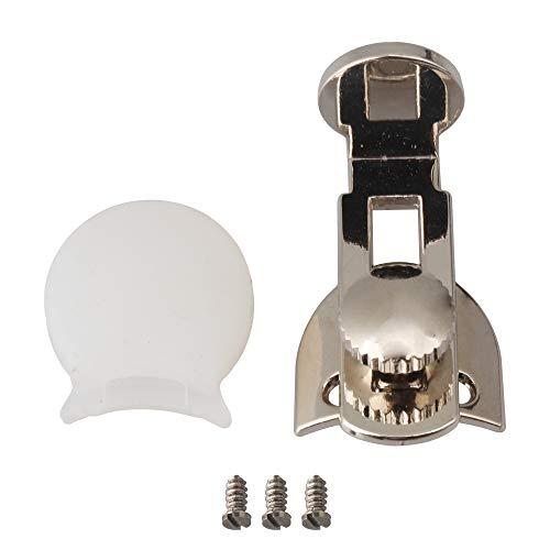 Yibuy クラリネットサムレスト プロテクター ネジ付き クラリネット用 金属&ゴム製 シルバー&ホワイト