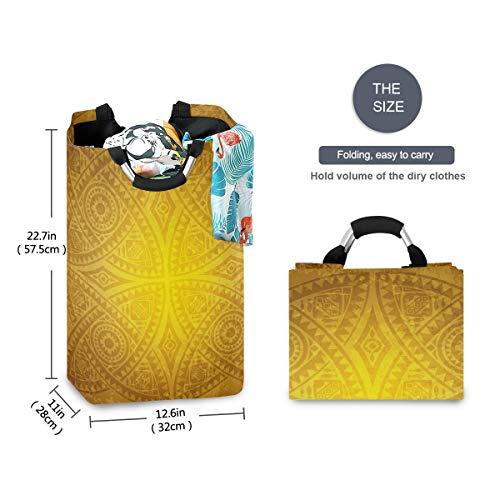 FANTAZIO Afrikaanse bloementextuur grote wasmand opvouwbare stof waszak, opvouwbare kledingtas