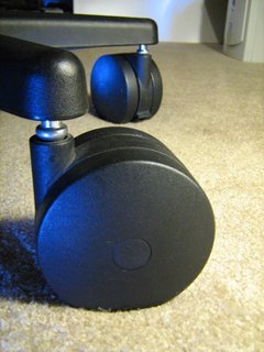 "Miracle Caster! Extra Large Chair Wheels. 4"" Set of Five. Great for carpet. Replaces chair mat."