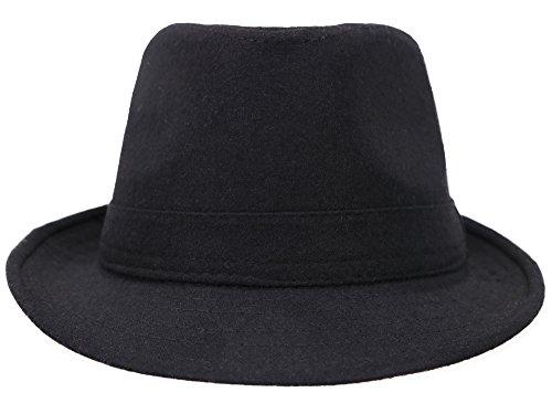 Fedora Hats for Men Unisex Manhattan Black Fedora