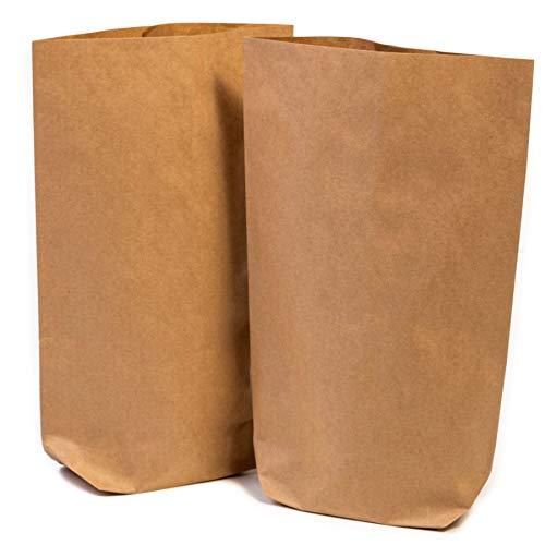 24 x Papiertüten Braun klein (16,5 x 26 x 6 cm groß) - 24 Braune Geschenktüten für Adventskalender - Kraftpapiertüten, Bodenbeutel, Kreuzbodenbeutel, Bag, Tüten, Tütchen, Beutel Kraft Papier