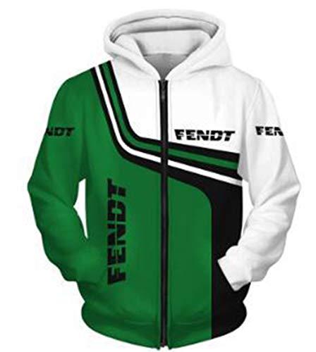 Cronell Story Herren Winter Außen Digitaldruck FENDT Logo Jacke Baseball Uniform Fluganzug (1,XL)