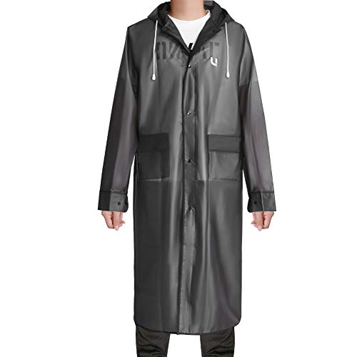 UNIQUEBELLA Regenmantel Eva Travel Regenbekleidung Regenjacke (M, Grau mit Tasche)