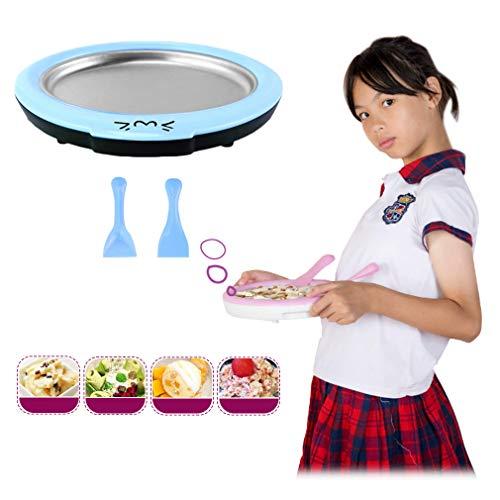 NoNo Fried Joghurt-Maschine, Haushaltsklein Eismaschine Kinder frittiertes EIS Roll-Maschine Joghurt-Hersteller, EIS Porridge Fried EIS-Behälter,Blau