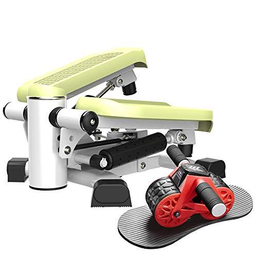 leikefitness Twist Stair Stepper 6600(Green) and Ab Carver Wheel Roller 1300 Bundle