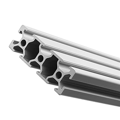 YDONGIIU Extrusion Frame, 1pc 200/300/400mm Length 2060 T-Slot Aluminum Profiles Extrusion Frame for CNC 3D Printers Plasma Lasers Stands