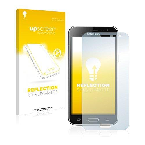 upscreen Entspiegelungs-Schutzfolie kompatibel mit Samsung Galaxy J3 / J3 Duos (2016) – Anti-Reflex Bildschirmschutz-Folie Matt