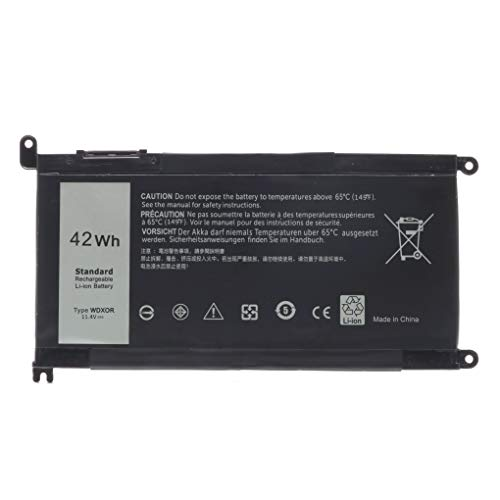 WDXOR WDX0R Battery for Dell Inspiron 15 5565 5567 5568 5570 5575 5578 5579 5580 5582 5583 5584 7560 7569 7570 7572 7573 7579 7580 5368 5378 5379 7368 7378 Latitude 3180 3189 3190 3480 3580 3379 3390