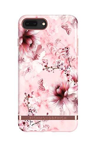 Richmond & Finch Designed für iPhone 6+ / 6s+ / 7+ / 8+ Gehäuse, Rosa Marmor Blume Gehäuse für iPhone 6+ / 6s+ / 7+ / 8+