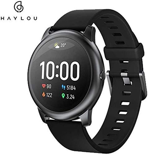 Haylou solar 3 Smartwatch,1.28 Zoll Touch-Farbdisplay Fitness Armbanduhr mit Pulsuhr Fitness Tracker IP68 Wasserdicht Sportuhr Smart Watch mit Schrittzähler,Schlafmonitor,Stoppuhr (Englische Version)