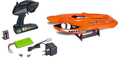 Carson Race Shark FD 2.4G 100% RTR orange, Ferngesteuertes, RC, Speed Boot, inklusive Fernsteuerung, Sicherheitsschaltung, 500108034