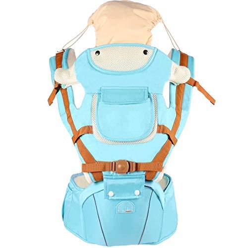 Big Bargain Store pour nouveau-né et enfant en bas age de 0 à 3 ans sac à dos pour bébé ergonomique avec un chapeau de soleil combinaison de sangle et tabouret amovible Porte-sac à dos 3 en 1 pour