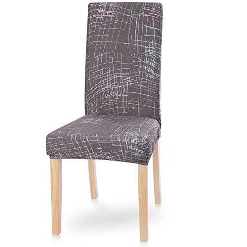 PLDYJ Stuhlabdeckung Moderne Esszimmerstuhl Cover Spandex Stretchstuhlabdeckung Esszimmer Stuhlabdeckung Stretch Chair Cover Hotel Bankett (Color : Beioufengqing, Specification : 6pcs)