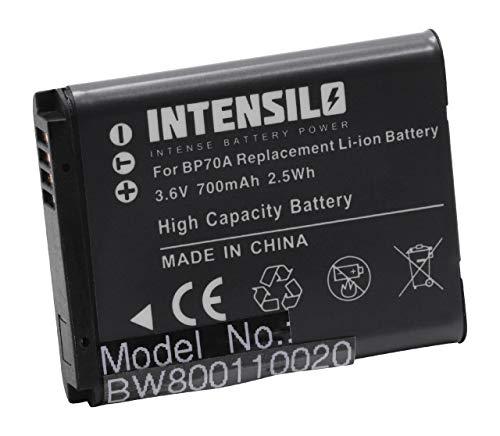 INTENSILO Li-Ion batería 700mAh (3.6V) para cámara de Video videocámara Samsung DV180F, ES65, ES70, ES71, ES73, ES74, ES75, ES78, ES80 por BP70a.