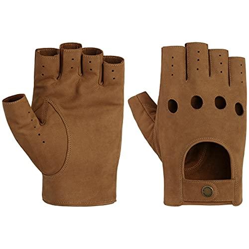 Stetson Racing Lederhandschuhe Ziegenlederhandschuhe Fingerlose Handschuhe Herren - Frühling-Sommer - 10 HS braun
