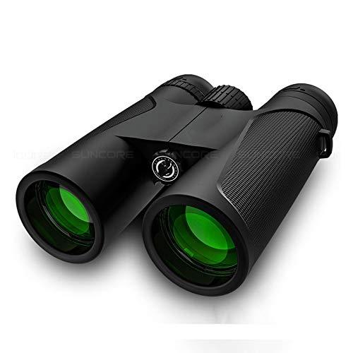Binoculares 12X42 HD Telescopio Porttil De Revestimiento Verde Multicapa De Alta Potencia para Acampar Al Aire Libre