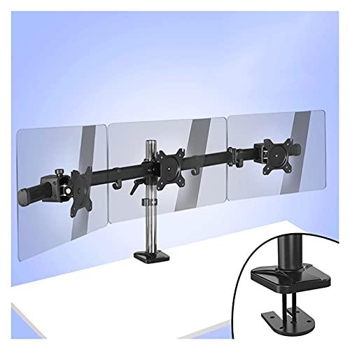 Soporte Pantallas Soporte de monitor Triple 17'-27' Tres pantallas LCD MONTORETE MONTE DE ESPETROS, altura/ inclinación/ rotación ajustable, cada brazo tiene hasta 17, 6 lbs Monitor Arm ( Color : C )