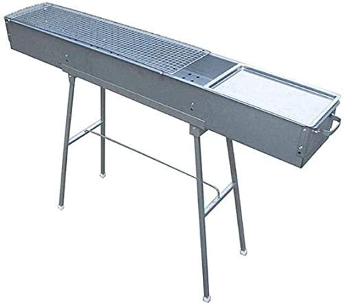 Práctico Estante de Picnic Plegable Portátil Y Salvaje, Carbón de Aleación de Zinc Estable Y Duradero, 120 * 80 * 18 cm, lsxysp