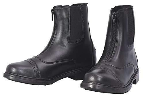 TuffRider Women's Starter Front Zip Paddock Boots, Black, 7