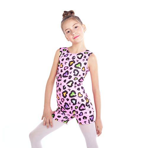Gymnastikanzug für Mädchen, einteilig, glitzernd, bunt, Tanzen, athletisch, Biketard, 2–11 Jahre - mehrfarbig - 140 cm(9-10 Jahre)