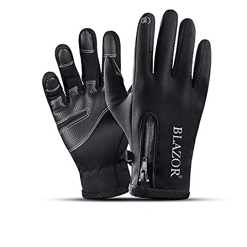 Winter Thermo Handschuhe,wasserdichte Touchscreen Winterhandschuhe Herren Damen, Fahrradhandschuhe, Laufhandschuhe, MTB Winddicht Handschuhe zum Radfahren, Fahren, Joggen, Skifahren