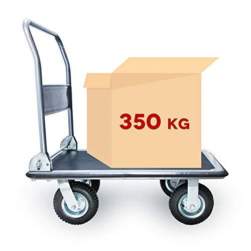 Grafner® SCHWERLAST Plattformwagen | bis 350 kg Tragkraft | klappbar