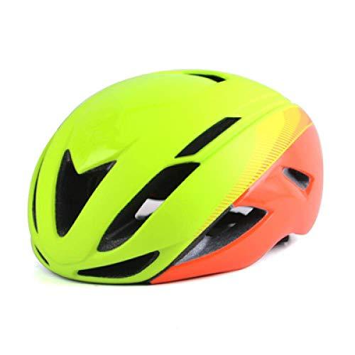 Casco de Ciclista Hombres Cubierta Ultraligero MTB Triathlon Casco de la Bici Integralmente-Mold Casco de Ciclista Ciclismo de Forma Segura Cap Motocicleta (Color : Yellew Green)