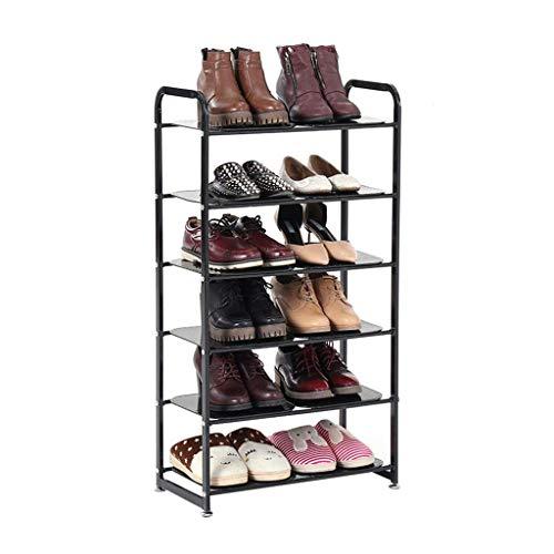 XXCHUIJU Zapato Estante Zapato Estante de Metal 6 Niveles apilable Aparato Almacenamiento Organizador estantes Almacenamiento Torre gabinete Hierro Arte para 12 Pares de Zapatos Zapatos Organizador