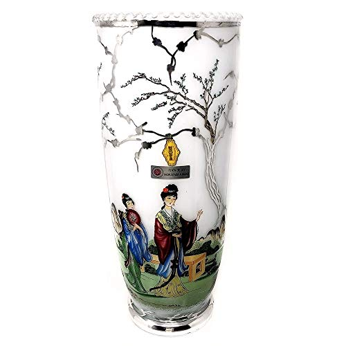 925m Silber Keramik-Vase Act. Embedded-hand [AB9422]