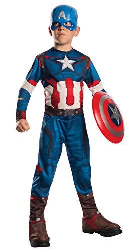 Rubie's-déguisement officiel - Marvel- Déguisement Pour Enfant Classique Captain America Avengers 2 - Taille L (147 cm/82 cm)- CS861424/L