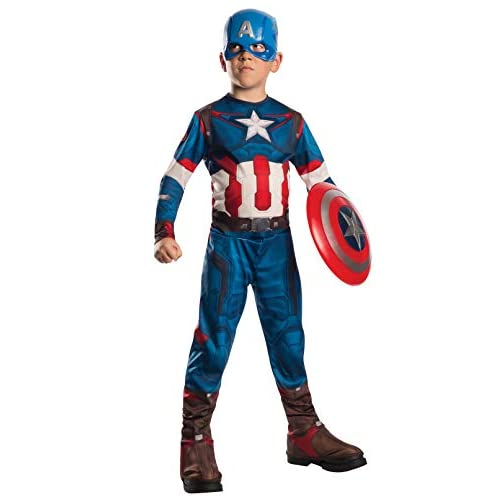 Rubie's IT610424 - Costume 'Captain America', Multicolore, L (8-10 anni)
