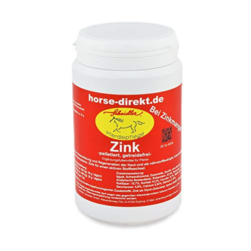 Scheidler horse-direkt Zink 700g pelletiert & getreidefrei – Ergänzungsfuttermittel bei Zinkmangel für Pferde – Mineral-Futter für einen aktiven Stoffwechsel & Regeneration der Haut