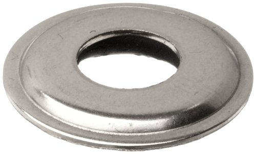 304 Stainless Steel Sealing Washer, Plain Finish, 5/16' Hole Size, 0.3150' ID, 0.0770' Nominal Thickness (Pack of 100)