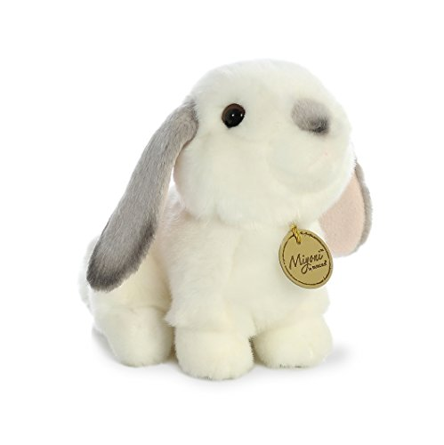 Aurora - Miyoni - 8' Lop Eared Rabbit with Grey Ears, White and Gray