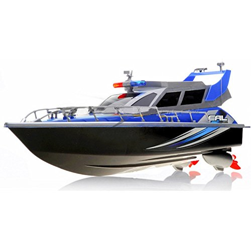 RC Patrol Boat High Speed Radio Controlled Ship Watercraft - Blue